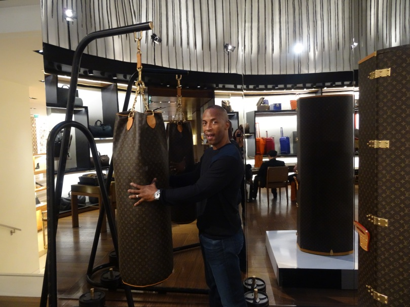 A LV boxing bag! What will they think of next?