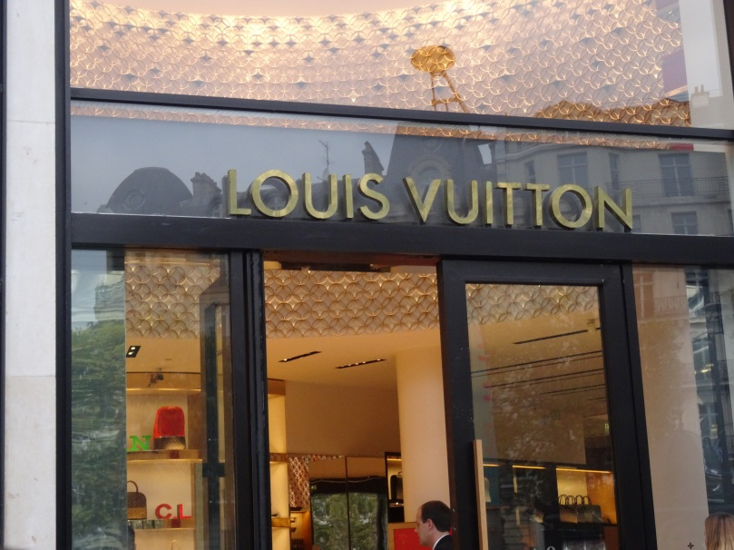 Louis Vuitton flagship store in Paris.