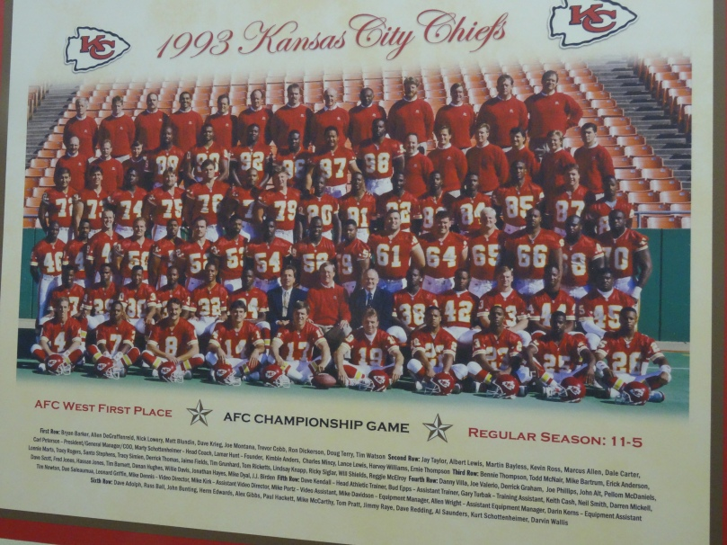 1993 Kansas City Chiefs Team.