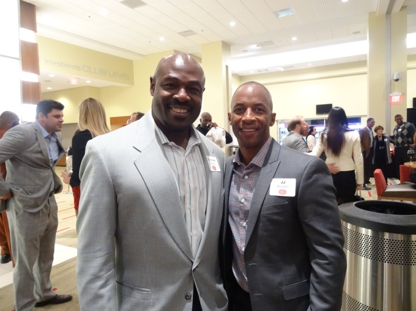 JJ with former teammate Christian Okoye
