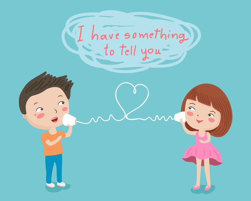 couple tell to love character illustration